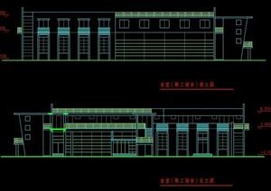 現代學校教職工食堂及體育館建筑設計圖紙