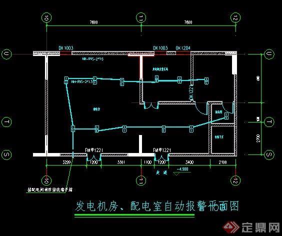 发电机房与配电室平面图纸