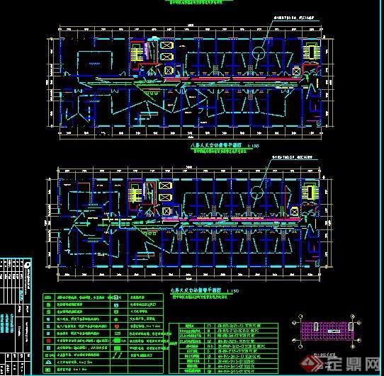 某人民图纸建筑消防系统v图纸医院CAD黑白图纸变成图片