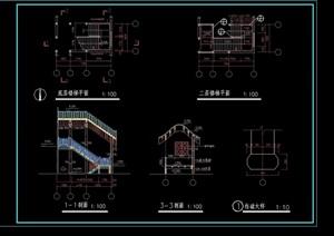 古建楼梯cad施工图