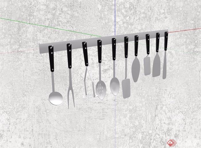 精品餐具摆件详细设计su模型