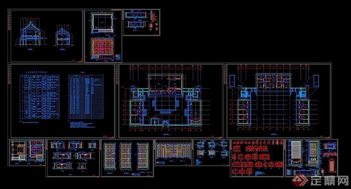 古建筑装修改造设计cad施工图