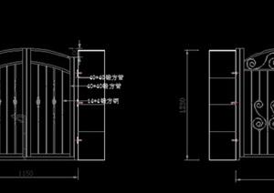 别墅的庭院的铁艺小门