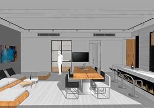 极简主义客厅装修效果图模型