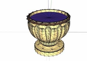 欧式简单的花钵设计SU(草图大师)模型