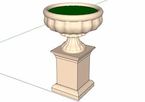 独特欧式花钵设计SU(草图大师)模型