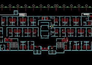 酒店客房楼层室内装修设计图纸