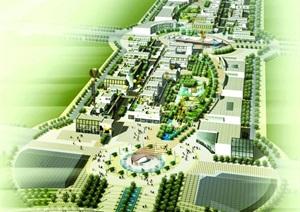 天津某商业购物中心规划设计平面及效果图