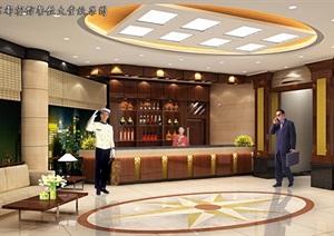 新中式风格酒店装修设计效果图6张