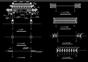 古典中式牌坊cad施工图
