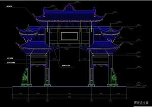 古典中式cad牌坊施工图