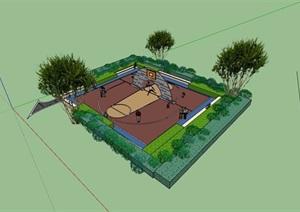 运动球场详细设计SU(草图大师)模型