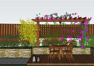露台铝合金廊架、亭子、阳光房模型免费下载
