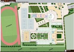 某小学整体平面规划设计方案psd文件