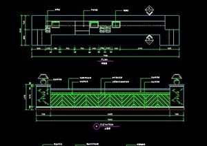 长形服务台设计图纸