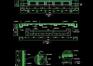 欧式风格服务台设计施工图
