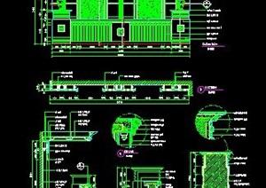 现代风格服务台及背景墙设计图纸