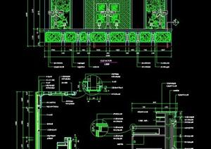 新古典风格酒店服务台设计图纸
