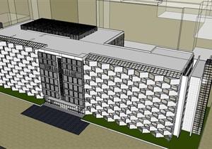 参数化创意阳台开窗表皮社区服务医院医疗站疗养中心