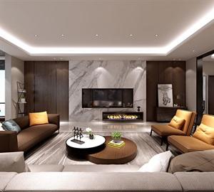 西安装修设计-曲江紫汀苑220平米五居室现代简约装修设计