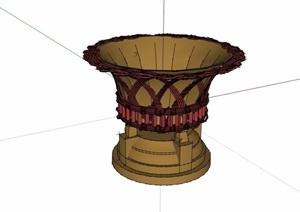 独特花钵素材SU(草图大师)模型