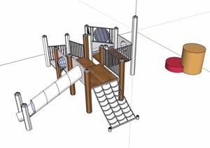 详细游乐器械设施设计SU(草图大师)模型