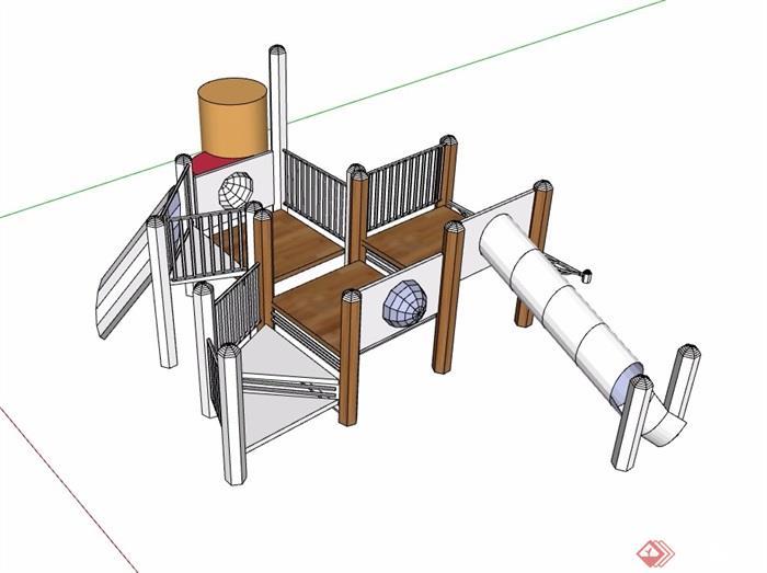 详细游乐器械设施设计su模型