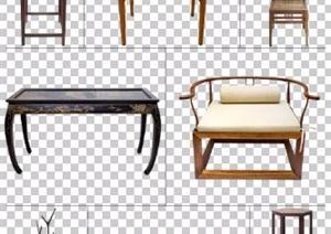 八款中式风格PSD分层家具素材