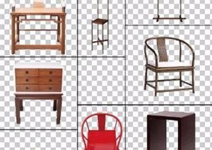 8款古典中式风格家具psd素材