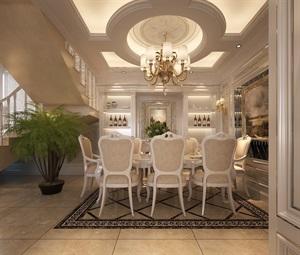西安新房装修-白桦林间260平米复式简欧风格-鲁班装饰原创设计