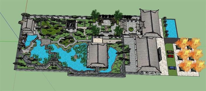 度假旅游生态风景现代古典中式园林景观设计[原创]