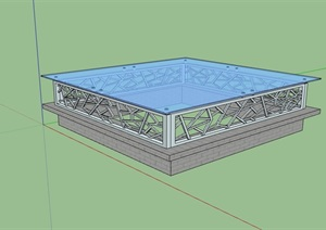 园林景观采光井设计SU(草图大师)模型