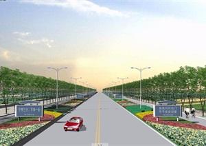 迎宾大道绿化设计cad方案图