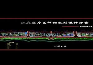某滨江大道片区详细规划设计cad方案
