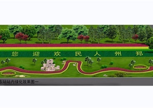 高速公路站区图纸CAD+1JPG效果