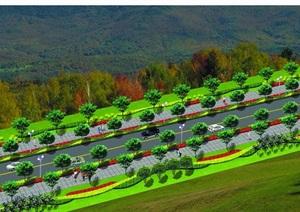 道路绿化设计方案JPG效果图10张