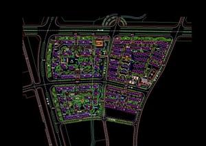 详细完整的住宅小区详细景观设计cad方案
