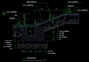 台阶、树池立剖面 施工图 无障碍通道施工图