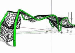 儿童乐园攀爬网素材设计SU(草图大师)模型
