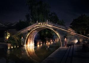 06-015古镇古桥-桥亮化