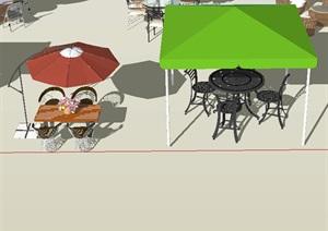 SU(草图大师)场景遮阳伞模型设计
