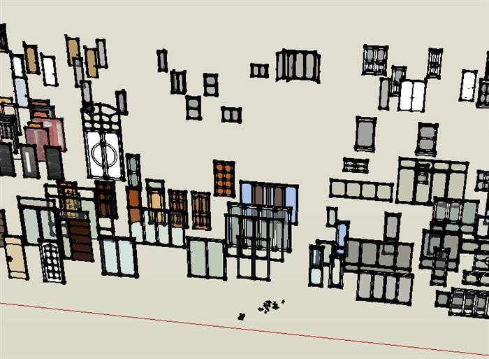 su模型门窗设计素材(1)