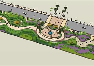 景观设计SU(草图大师)模型方案图纸