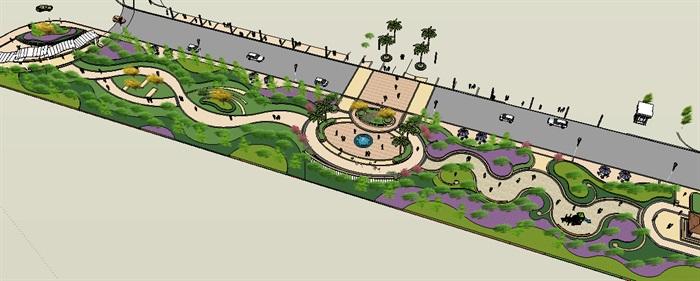 景观设计su模型方案(1)