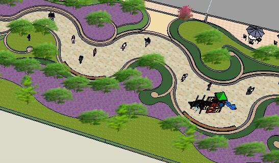 景观设计su模型方案(3)