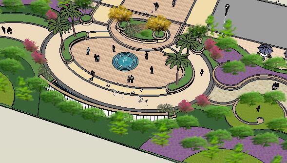 景观设计su模型方案(2)