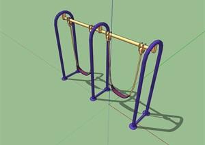 室外健身器材素材SU(草图大师)模型
