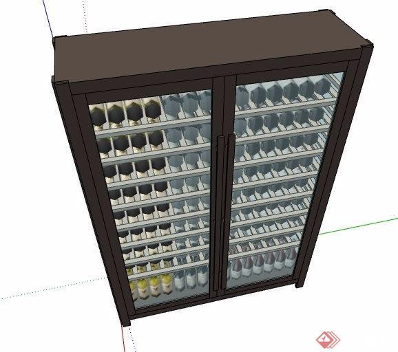 冰柜保鲜柜酒柜设计su模型