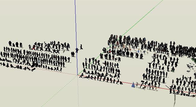 效果图场景人物详细su模型(2)