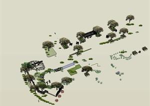 效果场景设计树SU(草图大师)模型